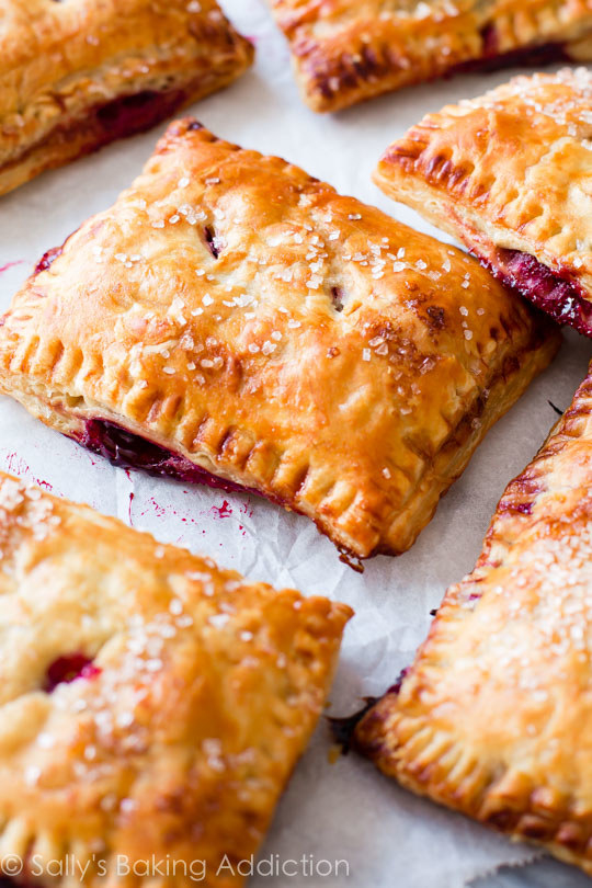 Simple Cherry Pastry Pies