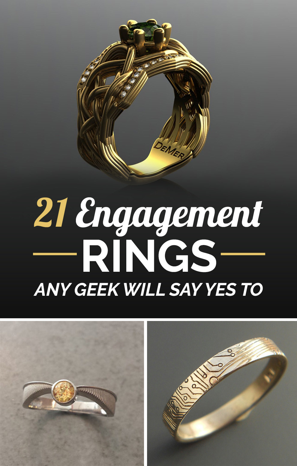 Buzzfeed 7 Rings: 21 Ridiculously Gorgeous Geeky Engagement Rings