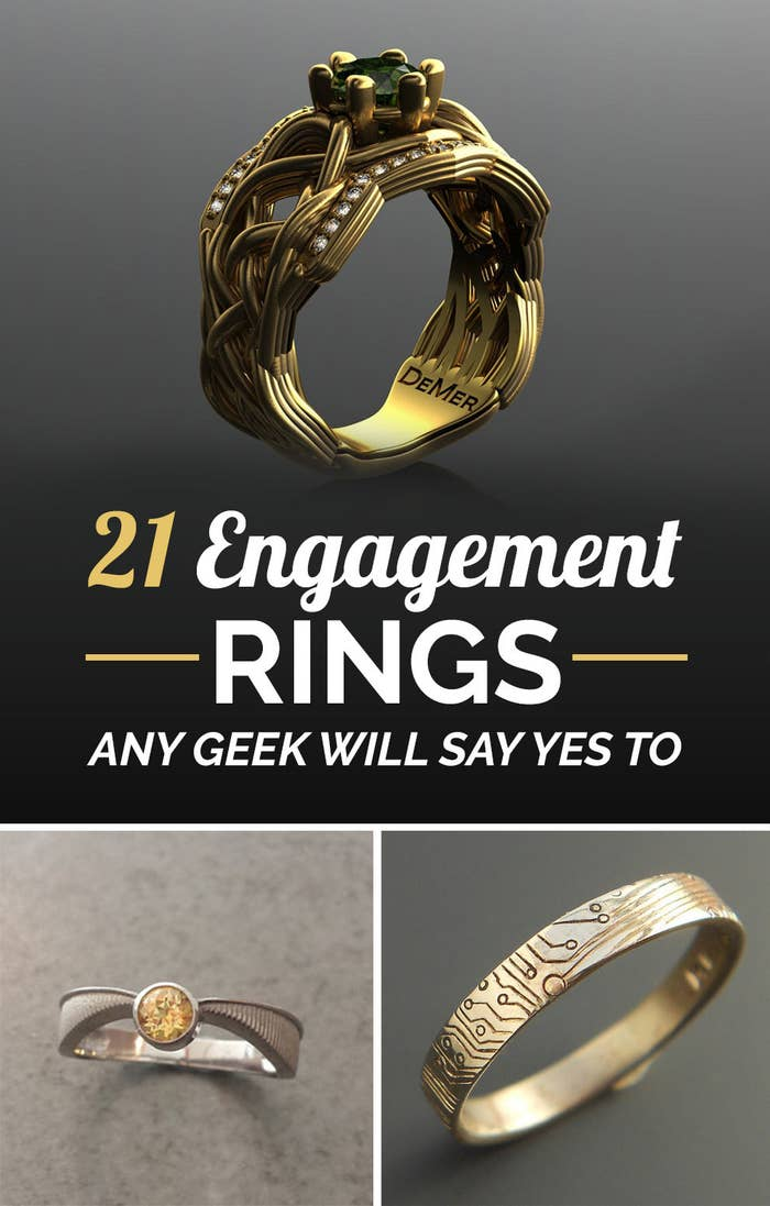 Nerdy Wedding Rings.21 Ridiculously Gorgeous Geeky Engagement Rings
