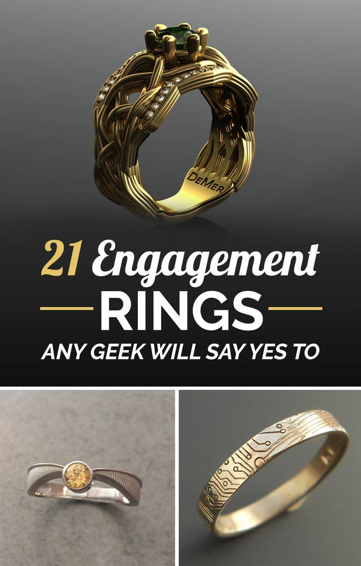 nerd rings of engagement wedding ideas bands ring unique nerdy
