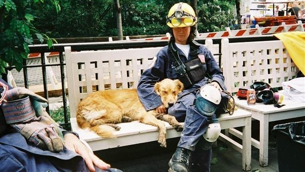 Denise Corliss, an electrical engineer from Texas, and her then-2-year-old dog Bretagne (pronounced Brittany) were deployed to Ground Zero a week after the Sept. 11, 2001, terrorist attacks.