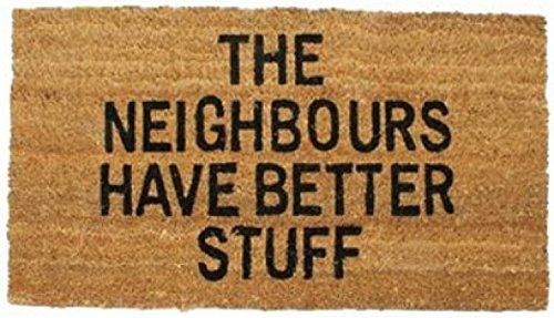 A tongue-in-cheek doormat that may entice potential burglars away from your house.