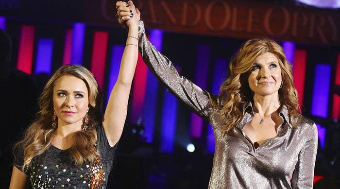 Hayden Panetierre and Connie Britton on Nashville.