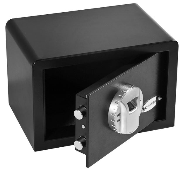 A biometric safe that opens when you scan your fingerprint.