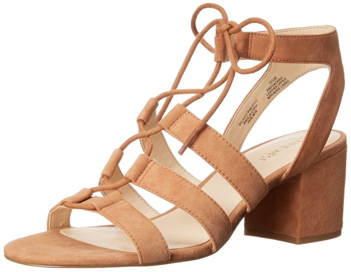 """Rating: 5/5 / Price: Starting at $60.77 / Sizes: 5-12 / Available in three colors.Most promising review: """"These sandals are exactly what I was looking for! I wanted a sandal with a short heel so that I could look a little bit more dressed up without having to wear a wedge & these definitely do the job! They fit perfectly too. Definitely recommend these!"""" —Amazon User"""
