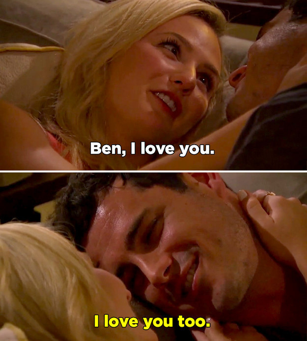 "When Ben said ""I love you"" to Lauren..."