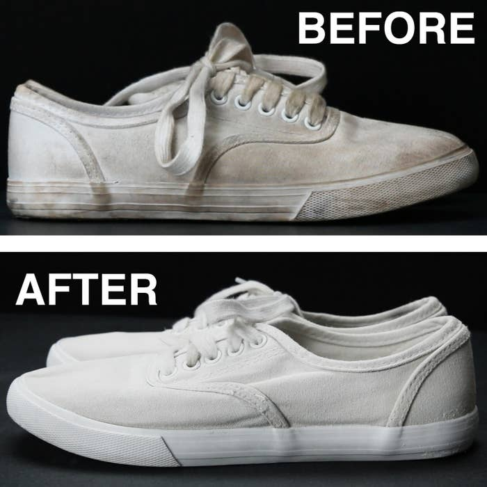 07347af7ebe92f Finally There s An Easy Way To Clean Off Your White Shoes To Make Them Look  Brand New Again