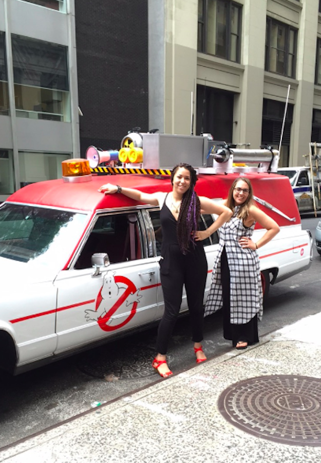 And today, we had the opportunity to take a ride in a replica of the Ecto-1, which is modeled just like the original.