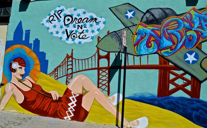 You can easily get lost in the mass of street art the rolling hills of San Francisco have to offer. Take a trip down to the Mission District and Clarion Alley to see some of the best.