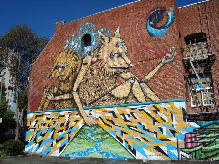 Take a drive around Oakland and you'll see such a diverse mixture of street art. Murals, lettering, and mosaics cover many of the city's walls, allowing you to see just how much street art has to offer.