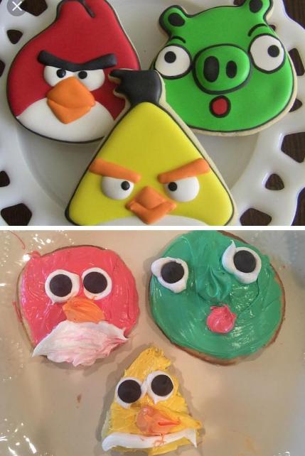 Gracias al maestro de cocina que demostró que todos los Angry Birds son hermosos tal y como son.