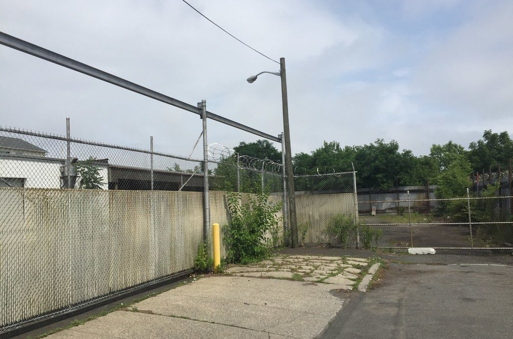 The abandoned warehouse lot of the proposed Muslim community center