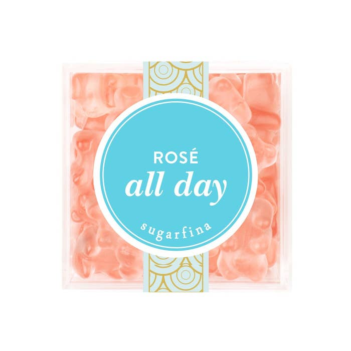 Sugarfina debuted their latest gummy bear creation recently and their Yes Way Rosé collection sold out in TWO. HOURS. There's now a waitlist of more than 10,000 people. That's a lot of people.