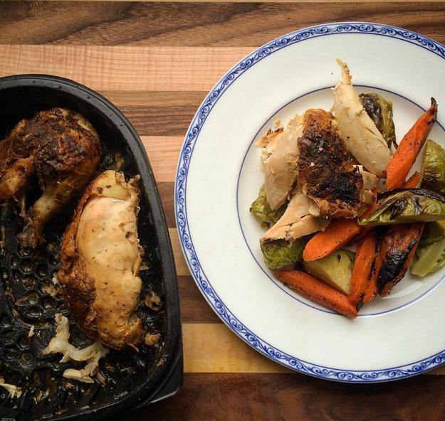 When all else fails: Rotisserie chicken.