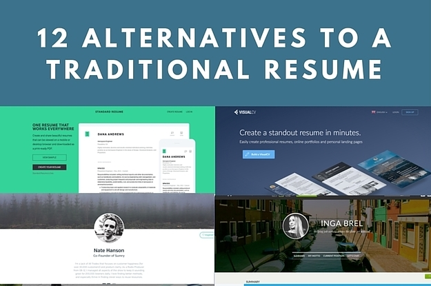 12 alternatives to traditional resumes