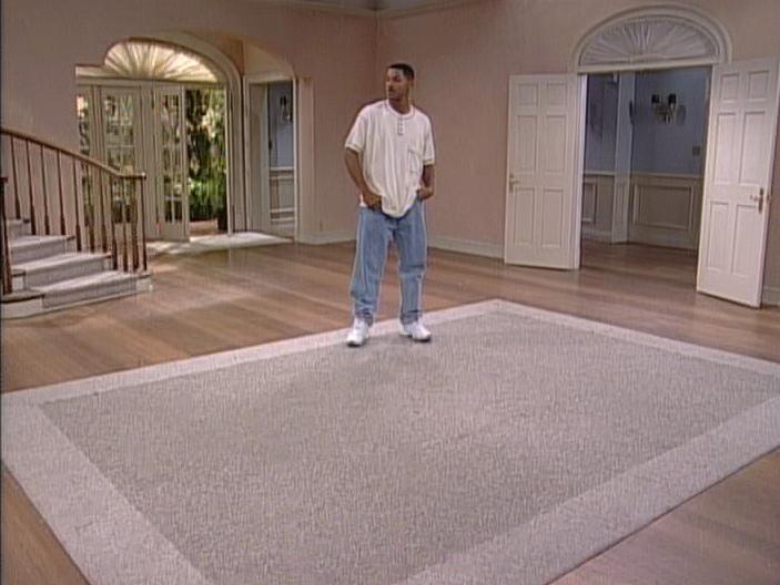 Screenshot of Will standing in an empty set