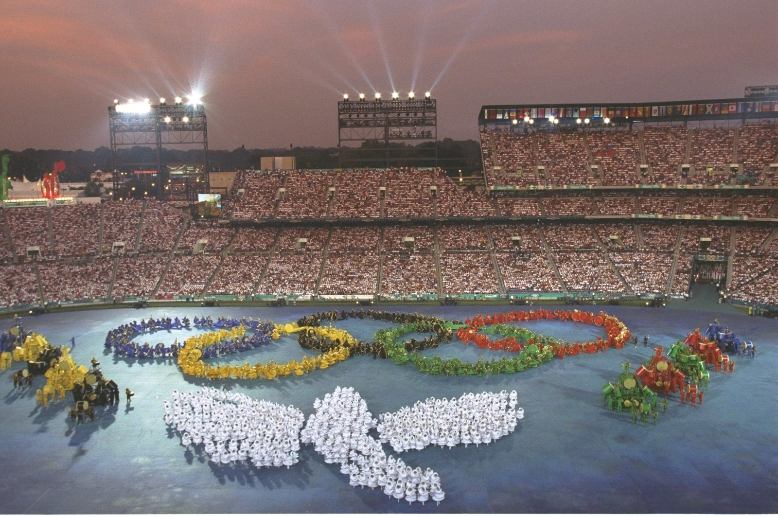 Photo from the opening ceremony of the Olympics