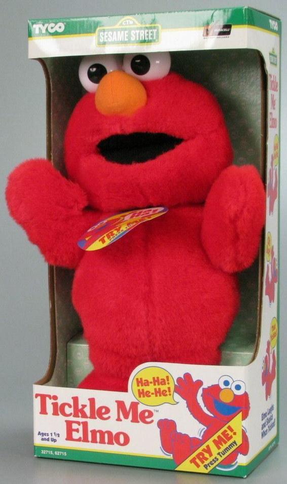 Tickle Me Elmo doll in box