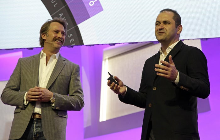 Brogan BamBrogan (L) and Shervin Pishevar (Right), co-founder and Executive Chairmanm at Hyperloop One