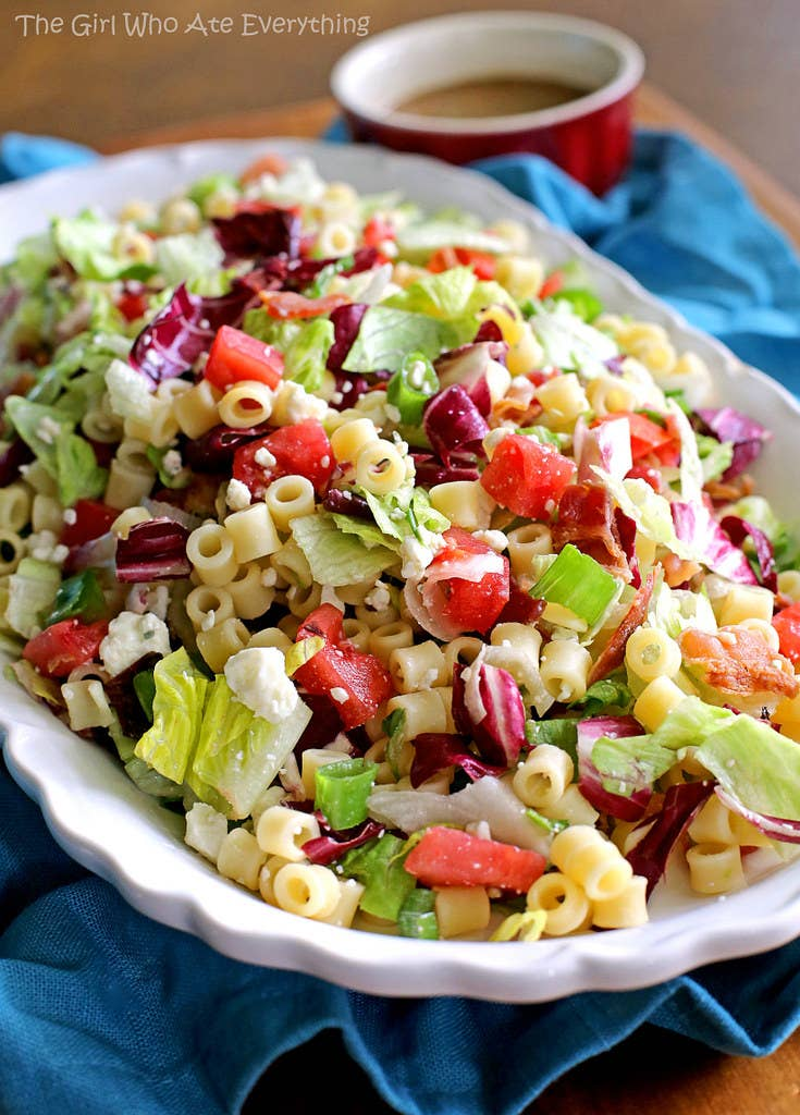 Any salad with macaroni and bacon in it is A-OK with me. Recipe here.