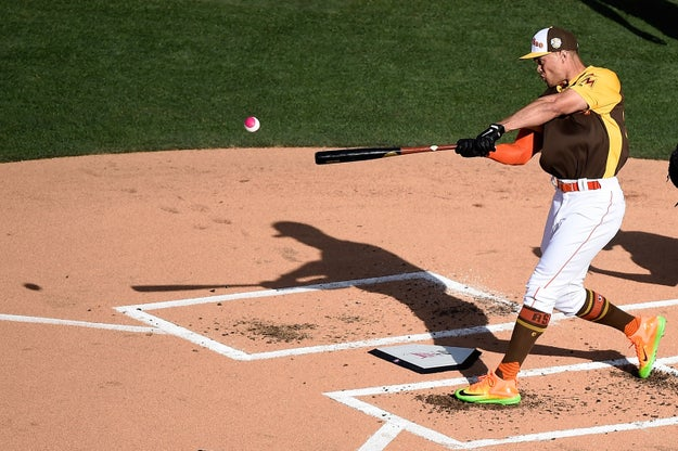 Miami Marlins star Giancarlo Stanton won Monday night's MLB Home Run Derby, finishing with a total of 61 home runs.