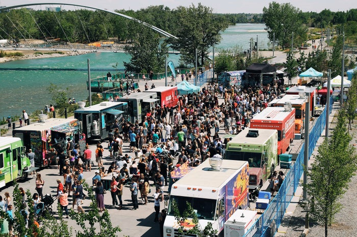 If it's people-watching that you like, you can't miss YYCFoodTrucks in the East Village. From tacos to perogies to chicken and waffles, you'll get a fantastic plethora of primo food truck options for all kinds of tastes.