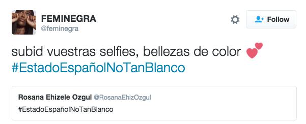 El hashtag invitaba a todos los españoles no blancos a subir sus fotografías a redes sociales para demostrar que España no es tan blanca como parece. Y que no todos los españoles son blancos.