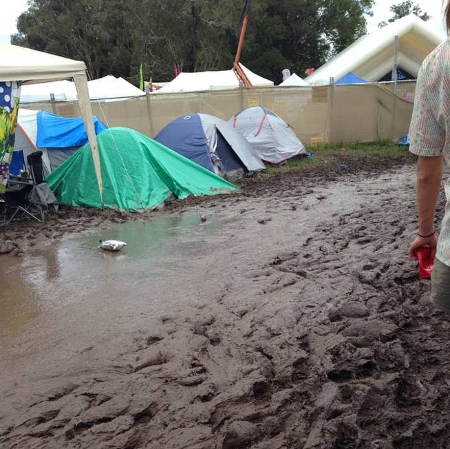 You'll be totally stunned because you will assume tents are supposed to keep the mud out. Alas, that does not mean they do.