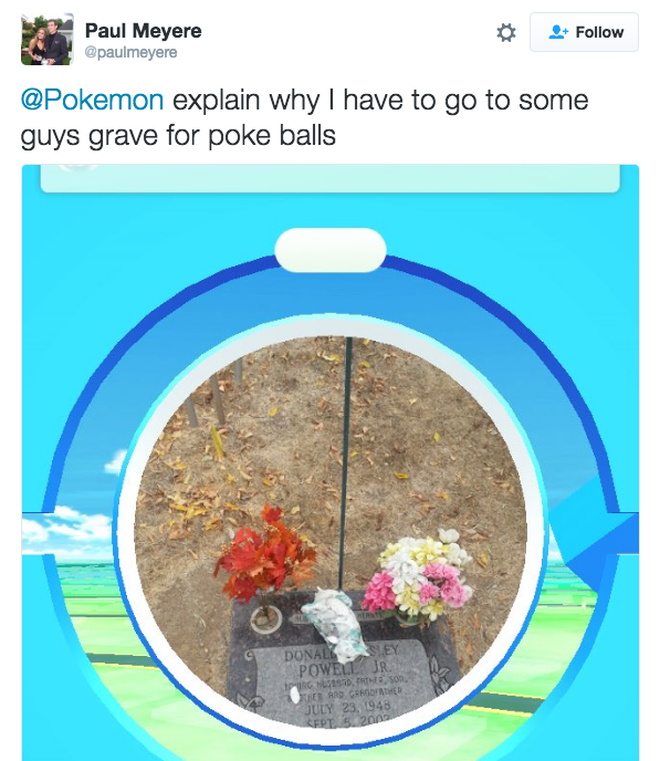 And it's weird to think that you are going to randos' graves to pick up Poké Balls.