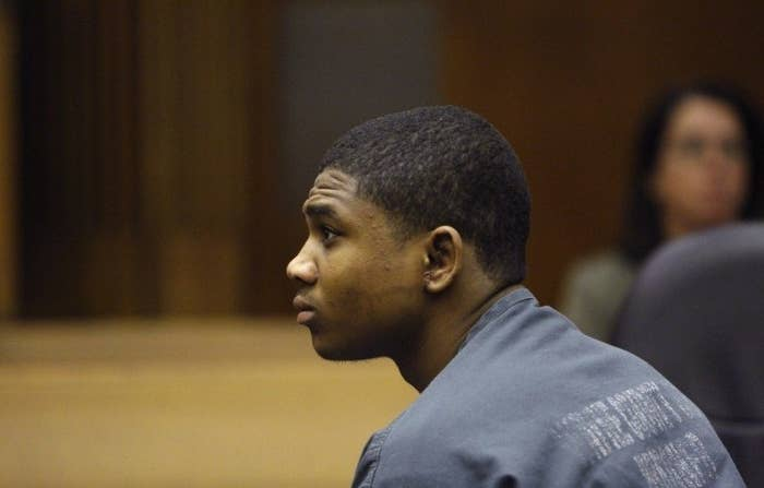 Davontae Sanford sits in a Detroit courtroom in 2010.