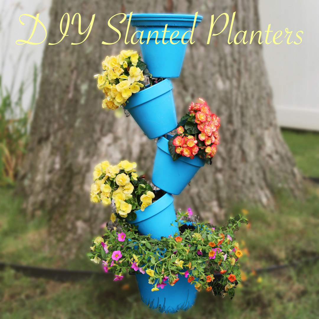 These DIY Slanted Planter Is The Best Summer Project