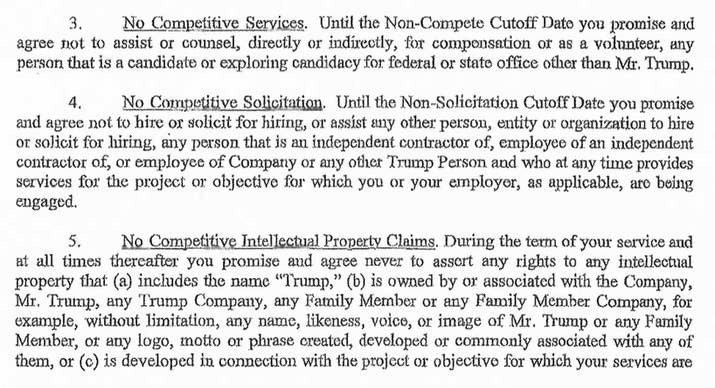 Here Is The Confidentiality Agreement Signed By A Former Trump