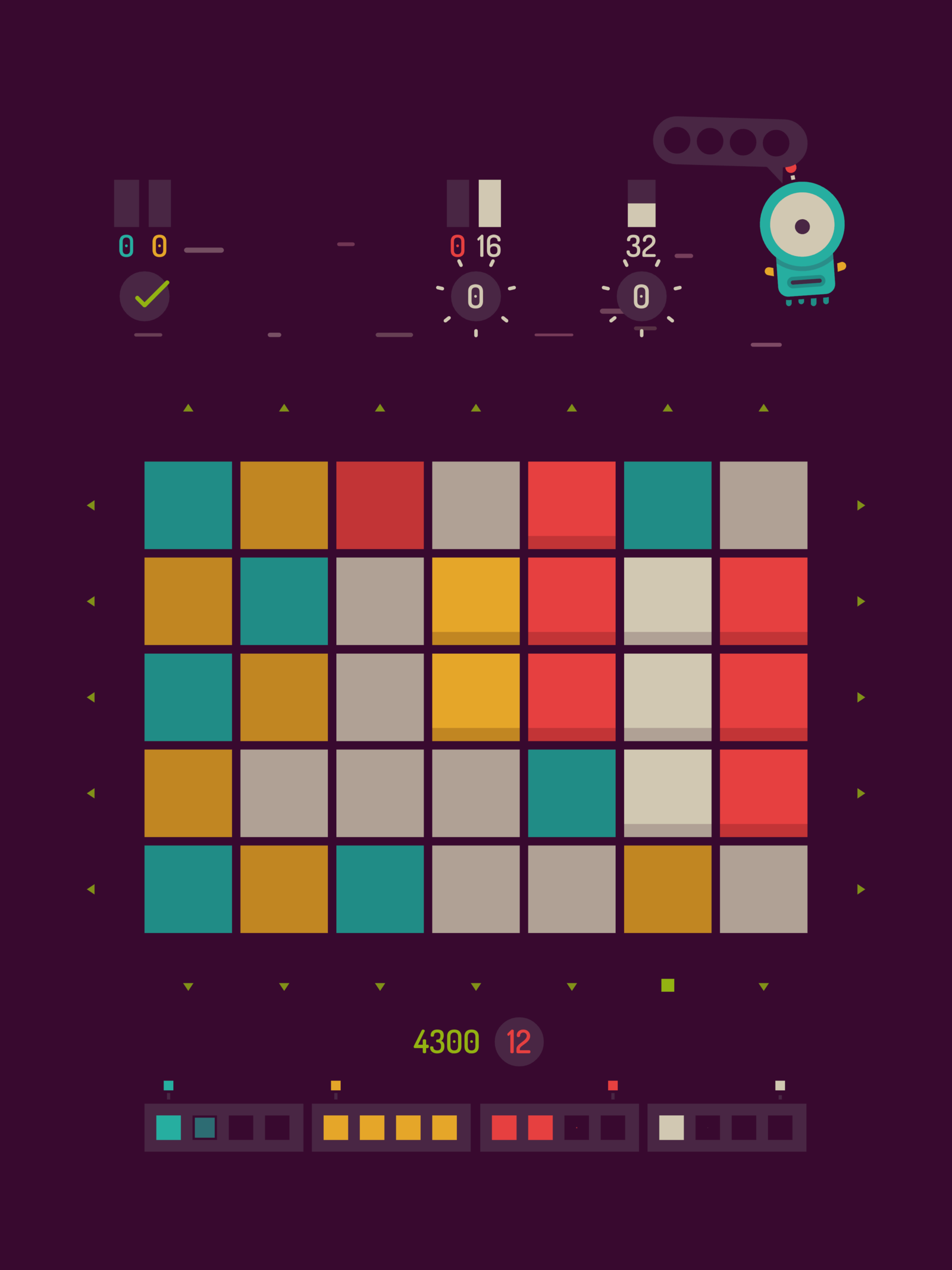 Game that challenges you to clear blocks in a certain set of moves