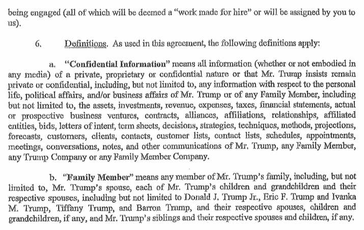 Here is the confidentiality agreement signed by a former trump share on facebook share pronofoot35fo Gallery