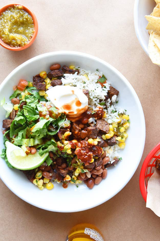 Burrito bowl without waiting in line? Yes, please. Recipe here.