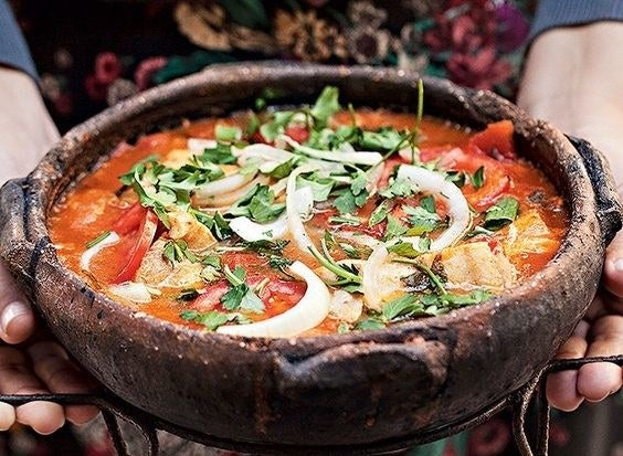 Bless Espírito Santo for this one. This version of Brazilian fish stew is lighter than the version from Bahia (also delicious) because it's not made with palm oil or coconut milk.
