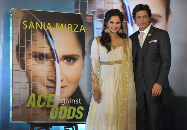 Tennis star and all-round baller Sania Mirza released her autobiography, Ace Against Odds, yesterday in Hyderabad.