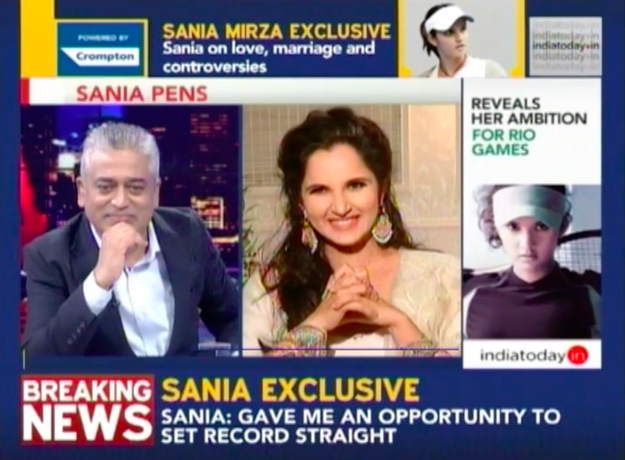 "In an interview with Rajdeep Sardesai, she was asked about her plans for motherhood and ""settling down""."