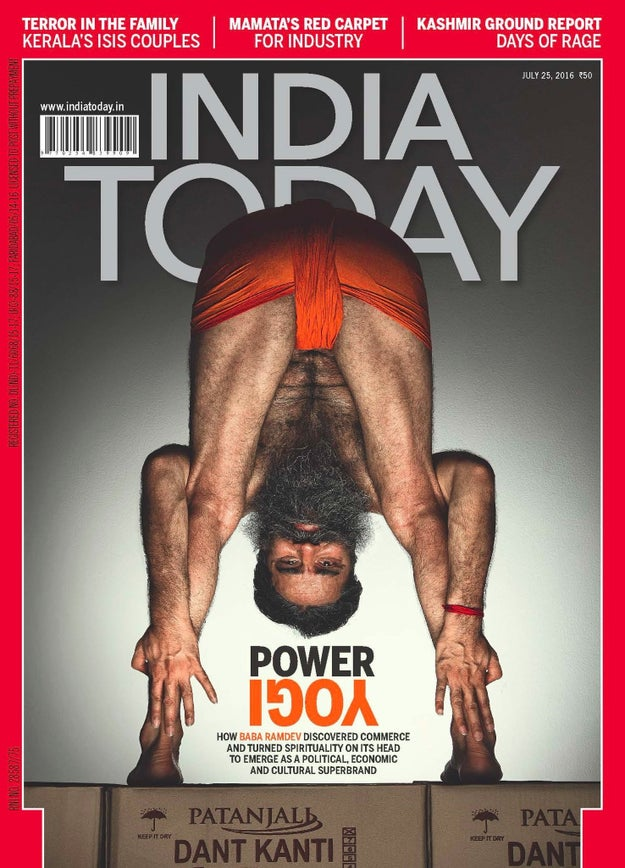 So, yoga guru and legit business magnate Baba Ramdev was just featured in an India Today cover story and, as you can see, it wasn't the average photo that made it to the front.