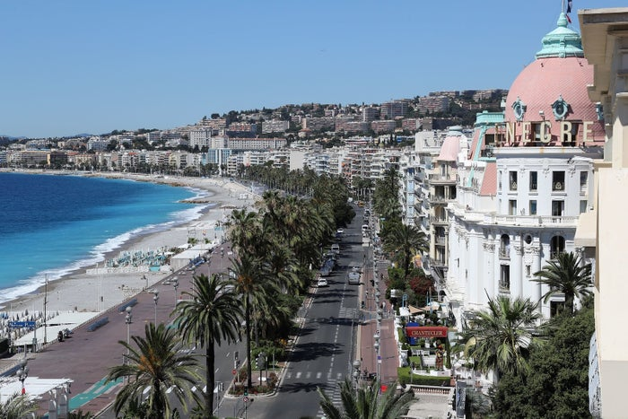 The site of the attack on the city's Promenade des Anglais on Jul. 15.