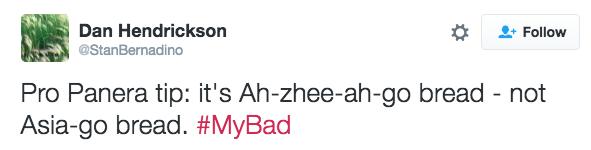 A little pronunciation tip: