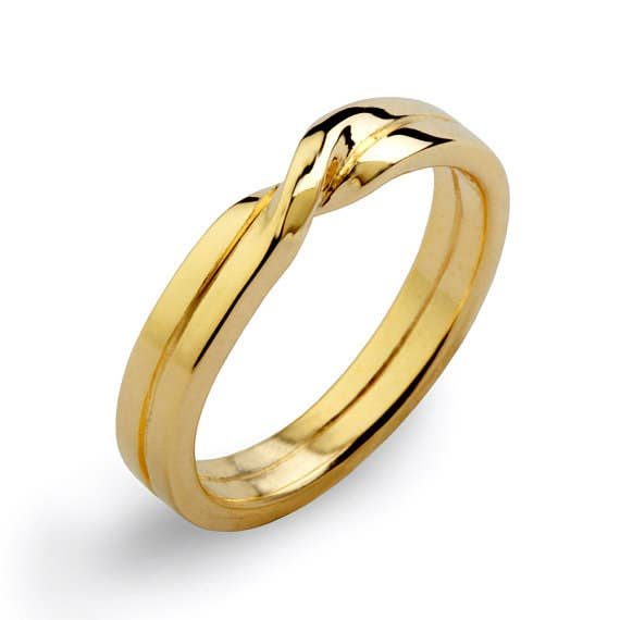 love knot ring 132 - Gold Wedding Rings For Men