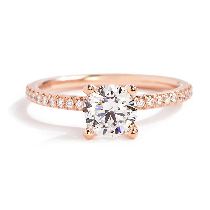 this brilliant diamond encrusted rose gold ring - Wedding Rings Rose Gold