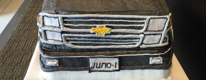Juno's first birthday cake.