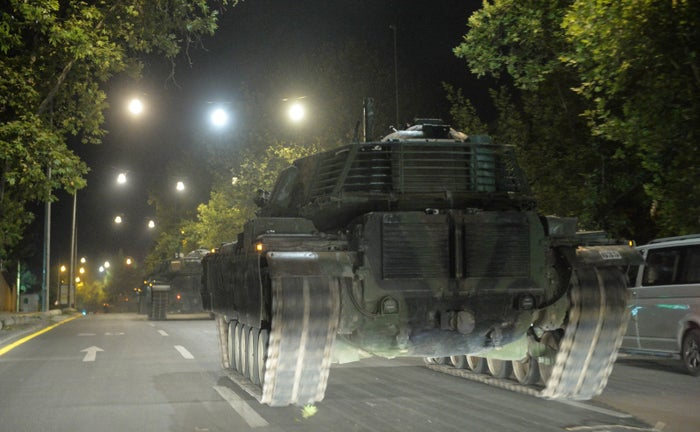 In the jarring, early hours of the coup attempt, tanks were seen driving alongside vehicles as they moved to key positions.