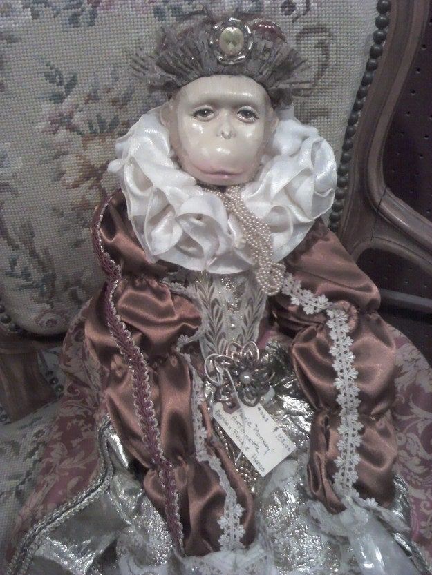 """The tag reads: 'Marie Monkey Antoinette.'""—ginger9077"