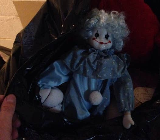 """""""My mom got this from a thrift store, because she thought it was cute. It's now in a bag in the basement, because when it was in my closet I kept finding it face-down on the floor.""""—brennadwyer"""