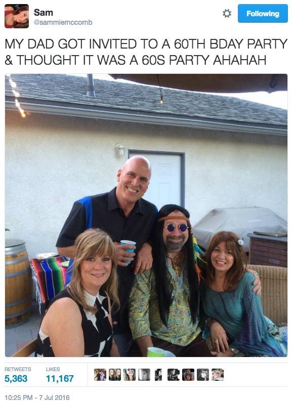60年代が大好きなお父さん 誕生日パーティーにいったら 面白すぎることに