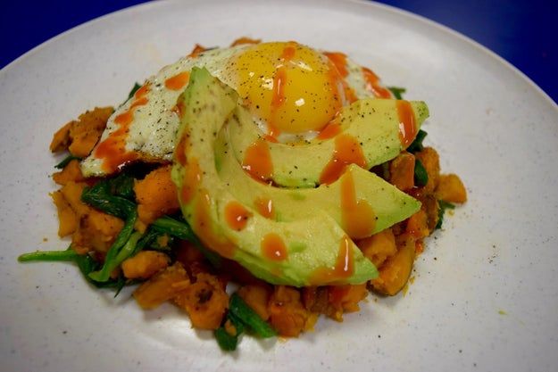 Sweet Potato and Fried Egg Hash