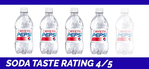 how does crystal pepsi taste